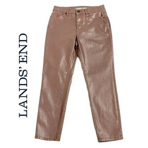 Land's End High Rise Slim Ankle Shimmer Jeans - 4